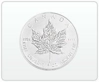 1oz Canadian Silver Maple Leaf